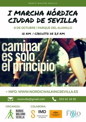 Cartel I Marcha Nórdica Ciudad de Sevilla