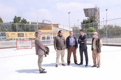 Nueva pista de hockey del Centro Deportivo Ifni