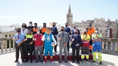 El Ayuntamiento activa el dispositivo municipal para el primer partido de la Eurocopa y destaca el impacto económico y en proyección de Sevilla de este nuevo evento internacional