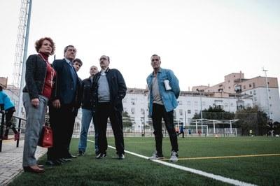 El Ayuntamiento concluye las obras del nuevo campo de césped artificial de fútbol, pista polideportiva, iluminación, sistema de riego y vestuarios del Centro Deportivo Sendai tras una inversión de 538.669 euros
