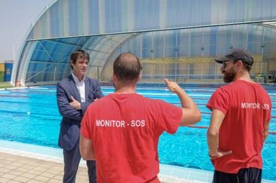El Ayuntamiento inicia los  trabajos para actualizar el sistema de climatización de la piscina  del CD Hytasa con una inversión superior a 193.000 euros