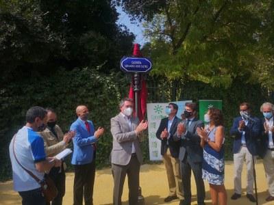 El Ayuntamiento rotula una glorieta de acceso al Parque de María Luisa con el nombre del corredor Bernardo Castro