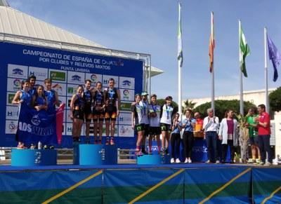 El equipo masculino ADSevilla se proclama subcampeón de España de Duatlon por clubes en Punta Umbría