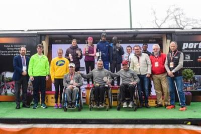 Podium del EDP medio Maratón de Sevilla 2020