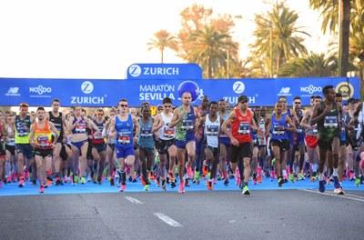 Salida del Zurich Maratón de Sevilla 2020.