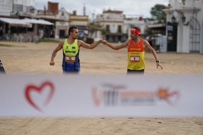 El VIII Doñana Trail Maratón, celebrado con todas las medidas de seguridad.
