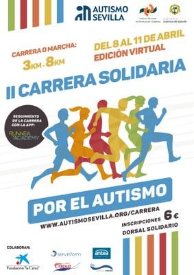 Cartel de la 2ª Carrera Solidaria por el Autismo