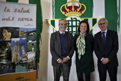 Junta, Ayuntamiento de Sevilla y Real Betis firman un acuerdo para impulsar iniciativas destinadas a promocionar la salud