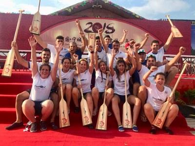 El equipo de Dragon Boat de la UPO se proclamó campeón del mundo universitario en 500 metros y subcampeón en 200 metros