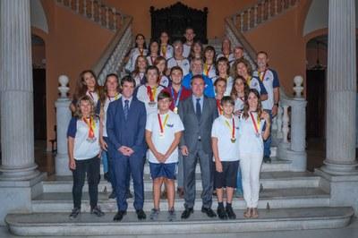 Recepción a deportistas del Náutico y del Club Piragüismo Triana por sus recientes éxitos deportivos