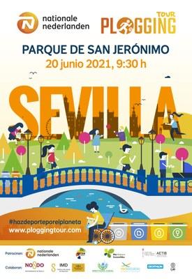 Sevilla acoge la primera gira de deporte y ecología que se celebra en Europa, el Nationale-Nederlanden Plogging Tour
