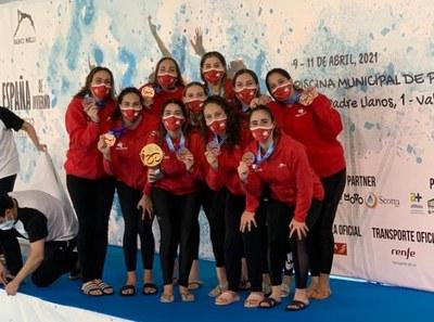 El Sincro Sevilla, campeón de España de natación artística.