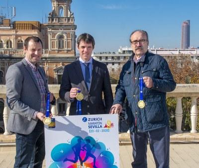 Presentación de la imagen y la medalla del Zurich Maratón de Sevilla 2020.