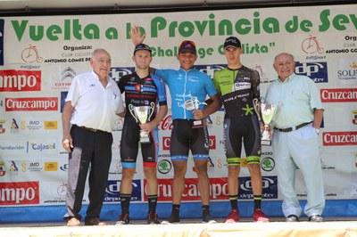 Podio de la XII Challenge Vuelta a la Provincia de Sevilla