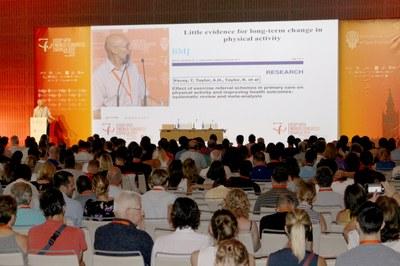 Gran expectación durante una de las ponencias del Congreso Mundial ISSP de Psicología del Deporte Sevilla 2017
