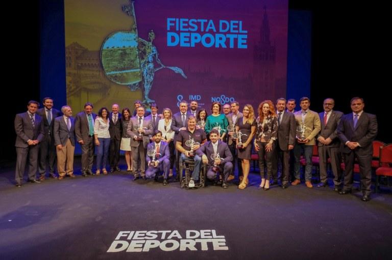 Foto de familia de la Fiesta del Deporte 2018