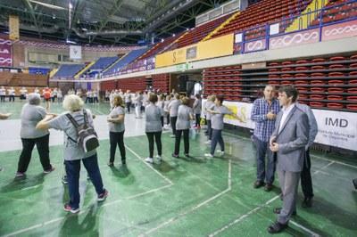 David Guevara, delegado de deportes, durante el Encuentro Deportivo de Mayores celebrado en el CD San Pablo