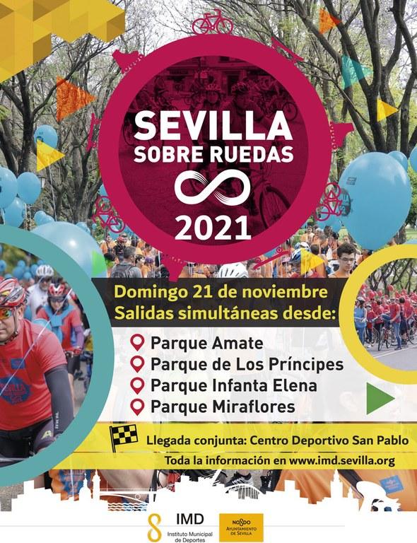 Cartel Sevilla sobre Ruedas 2021